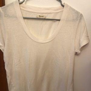 Madewell cream scoop neck T-shirt